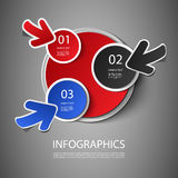 Infographic Design. Colorful Numbered Circular Infographic Template Design - Freely Scalable & Editable Vector Format Included Stock Photo