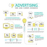 Infographic design concept Advertising Stock Images