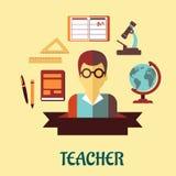 Infographic Design der Bildung flach Lizenzfreies Stockfoto