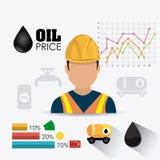 Infographic Design der Erdöl- und Erdölindustrie Lizenzfreie Stockfotos