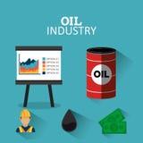Infographic Design der Erdöl- und Erdölindustrie Stockfotos