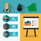 Infographic Design der Erdöl- und Erdölindustrie Lizenzfreies Stockfoto