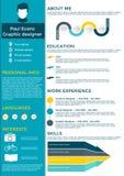 Infographic Design der flachen Zusammenfassung Stockfotografie