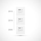 Infographic Design der modernen Zeitachse mit Ihrem Text Stockfotos
