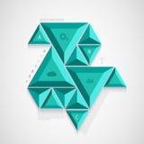 Infographic Design des modernen Dreiecks des Vektors Stockbild