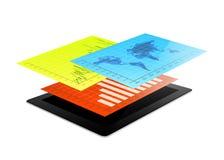 Infographic Design des Tablets Stockfoto