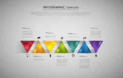 Infographic design element. Infographic with colorful triangle crystals, design element Royalty Free Stock Images