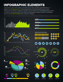 Infographic design elements. Set of infographic charts, icons, and design elements Royalty Free Stock Image