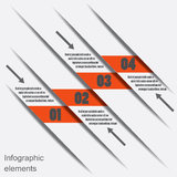 Infographic design elements (bookmarks) Stock Photo