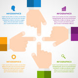 Infographic design elements in flat style. Stock Image