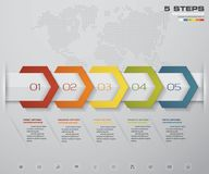 Free Infographic Design Elements For Your Business With 5 Options. 5 Steps Timeline Presentation. Royalty Free Stock Image - 118244496