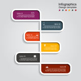 Infographic design with elements and icons. Vector illustration Stock Photography