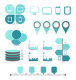 Infographic design elements ideal to display for y Stock Photography