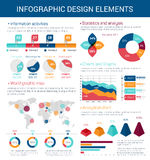 Infographic design elements with map, graph, chart Stock Photography
