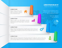 Infographic design elements. Steps option banners. Vector illustration. Can be used for infographics, web design, diagram, banners, step up options, workflow Royalty Free Stock Photo