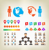 Infographic Design Elements Vector Royalty Free Stock Photography