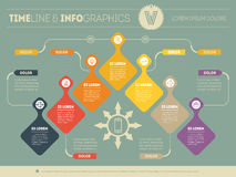 Infographic with design elements. Vector presentation of busines Royalty Free Stock Image