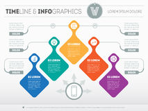Infographic with design elements. Vector presentation of busines. S processes. Business plan with 5 steps. Abstract Web Template of a pyramidal chart or diagram Royalty Free Stock Photography
