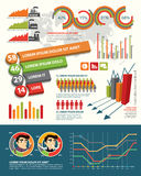 Infographic design elements royalty free stock images