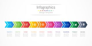 Infographic design elements for your business data with 10 options Royalty Free Stock Photo