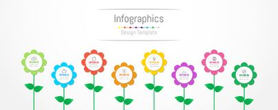 Infographic design elements for your business data with 8 options. Infographic design elements for your business data with 8 options, parts, steps, timelines or Royalty Free Stock Photography
