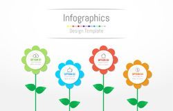 Infographic design elements for your business data with 4 options. Infographic design elements for your business data with 4 options, parts, steps, timelines or Stock Images