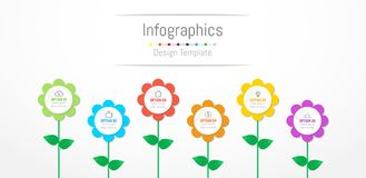 Infographic design elements for your business data with 6 options. Infographic design elements for your business data with 6 options, parts, steps, timelines or Stock Images