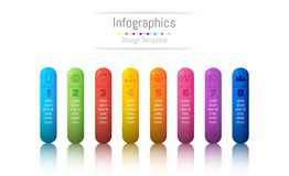 Infographic design elements for your business data with 8 options, parts, steps, timelines or processes. Vector Illustration Royalty Free Stock Image