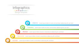 Infographic design elements for your business data with 5 options, parts, steps, timelines or processes. Vector Illustration Royalty Free Stock Photos