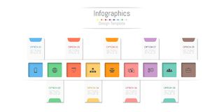 Infographic design elements for your business data with 9 options, parts, steps, timelines or processes. Vector Illustration Royalty Free Stock Photo
