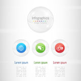 Infographic design elements for your business data with 3 options, parts, steps, timelines or processes. Royalty Free Stock Image