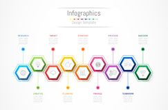 Infographic design elements for your business data with 9 options, parts, steps, timelines or processes. Vector Illustration Stock Image