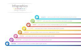 Infographic design elements for your business data with 8 options, parts, steps, timelines or processes. Vector Illustration Royalty Free Stock Images