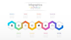 Infographic design elements for your business data with 8 options. Infographic design elements for your business data with 8 options, parts, steps, timelines or Stock Image