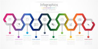 Infographic design elements for your business with 10 options, parts, steps or processes. Infographic design elements for your business with 10 options, parts Royalty Free Stock Photos