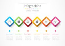 Infographic design elements for your business with 6 options, parts, steps or processes. Infographic design elements for your business with 6 options, parts Royalty Free Stock Photos