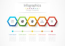 Infographic design elements for your business with 5 options, parts, steps or processes. Infographic design elements for your business with 5 options, parts Royalty Free Stock Image