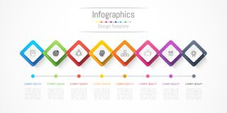 Infographic design elements for your business with 8 options, parts, steps or processes. Infographic design elements for your business with 8 options, parts Royalty Free Stock Image