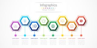 Infographic design elements for your business with 8 options, parts, steps or processes. Infographic design elements for your business with 8 options, parts Stock Photos