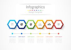 Infographic design elements for your business with 6 options, parts, steps or processes. Infographic design elements for your business with 6 options, parts Royalty Free Stock Images