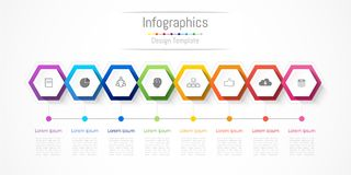 Infographic design elements for your business with 8 options, parts, steps or processes. Infographic design elements for your business with 8 options, parts Stock Image