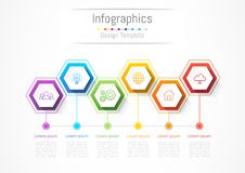 Infographic design elements for your business with 6 options, parts, steps or processes. Infographic design elements for your business with 6 options, parts Royalty Free Stock Photography