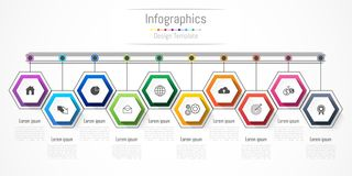 Infographic design elements for your business with 10 options, parts, steps or processes. Infographic design elements for your business with 10 options, parts Royalty Free Stock Image
