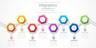 Infographic design elements for your business with 8 options, parts, steps or processes. Infographic design elements for your business with 8 options, parts Royalty Free Stock Photography