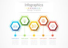 Infographic design elements for your business with 5 options, parts, steps or processes. Infographic design elements for your business with 5 options, parts Stock Photos
