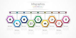 Infographic design elements for your business with 9 options, parts, steps or processes. Infographic design elements for your business with 9 options, parts Royalty Free Stock Photography