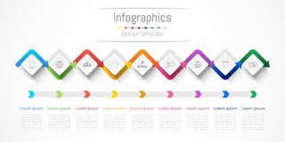 Infographic design elements for your business with 9 options, parts, steps or processes. Infographic design elements for your business with 9 options, parts Royalty Free Stock Images