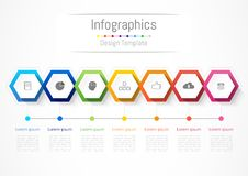 Infographic design elements for your business with 7 options, parts, steps or processes. Infographic design elements for your business with 7 options, parts Stock Photos