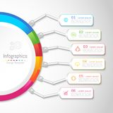 Infographic design elements for your business with 6 options, parts, steps or processes. Infographic design elements for your business with 6 options, parts Stock Photo