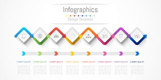Infographic design elements for your business with 8 options, parts, steps or processes. Infographic design elements for your business with 8 options, parts Royalty Free Stock Images